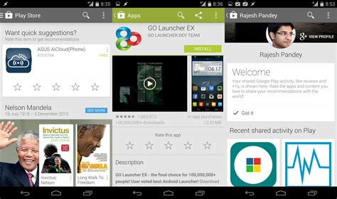 app layout tweak new play store update brings an activity feed layout