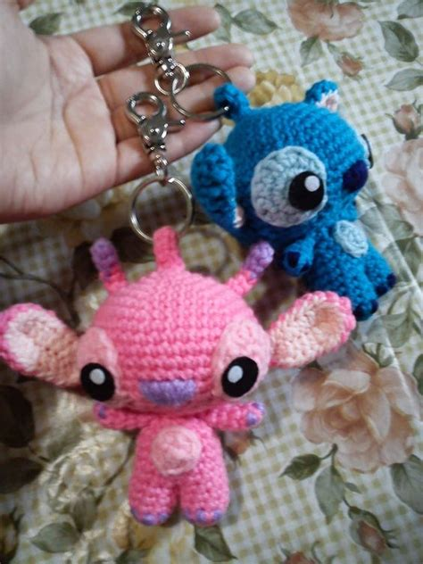 amigurumi stitch pattern angel stitch keychain free amigurumi pattern here
