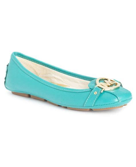 macys flat shoes aqua 98 michael michael kors shoes saffiano moc flats