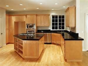 Maple Kitchen Cabinets With Granite Countertops Granite Countertops On Maple Cabinets Black Granite