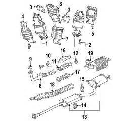 Honda Ridgeline Exhaust System Diagram Parts 174 Honda Pilot Exhaust Components Oem Parts