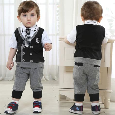 baby boy gowns brand baby boy clothes boys formal wedding costume children black clothing sets