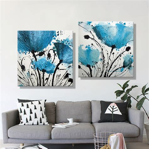 painting for home decor aliexpress com buy oil painting canvas abstract blue flower decoration home decor on canvas