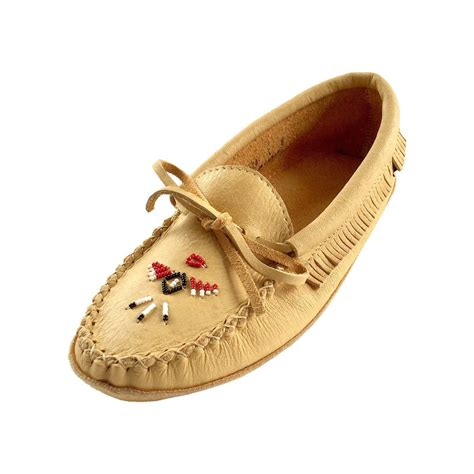 how to bead leather moccasins s soft sole genuine moosehide leather beaded