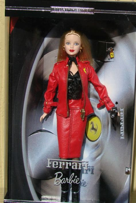 barbie ferrari ferrari barbie 2000 collector edition red leather like