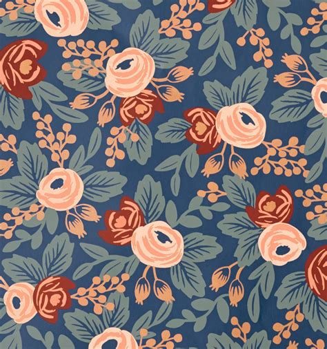 rifle paper company wallpaper rosa indigo wallpaper by hygge west made in usa