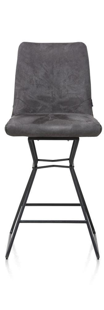 barstoel carbon lederlook grijs stoelen barstoel aiden antraciet grijs deba meubelen