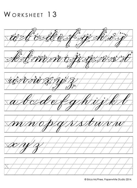 Calligraphy Worksheets by Great Worksheets For Copperplate Calligraphy