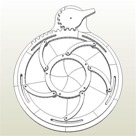 Design A Blueprint mechanical iris wip by billybob884 on deviantart