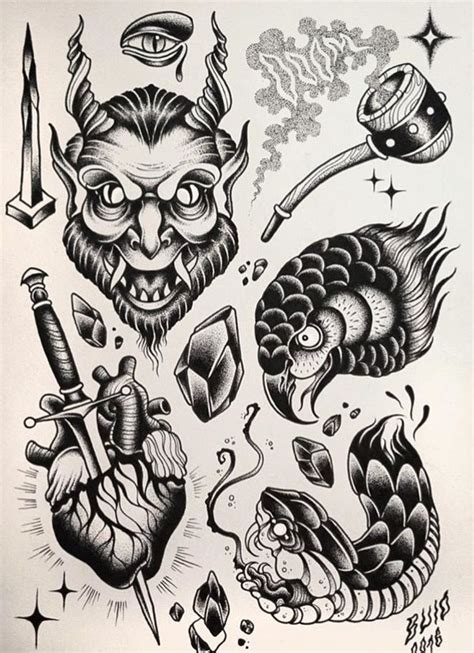 black traditional flash pin by kit nordfelt on illustration