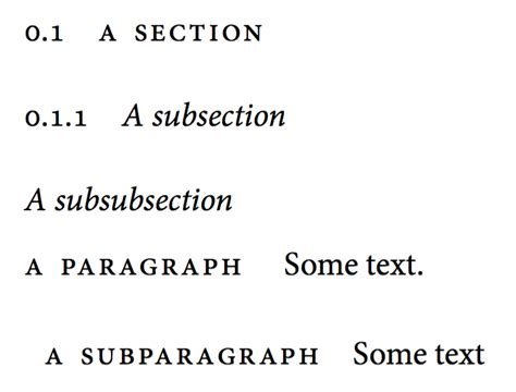 section subsection paragraph classicthesis how to modify the fonts of the paragraph