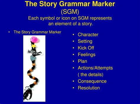 with the story with the ppt what is the story grammar marker sgm powerpoint