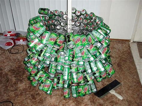 christmas mt dew the mountain dew tree recycled out of cans