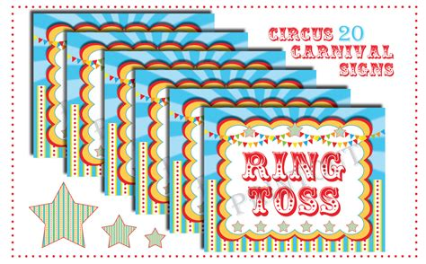 carnival sign template 6 best images of circus carnival printable signs free