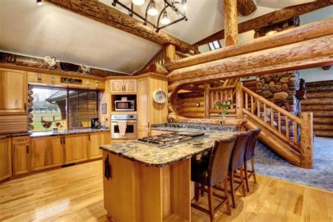 Log Cabin Kitchen Islands by 80 Custom Kitchens With Islands Great Design Ideas Images