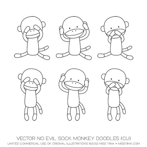 how to draw a doodle monkey 17 best images about doodle ish ideas sock monkeys