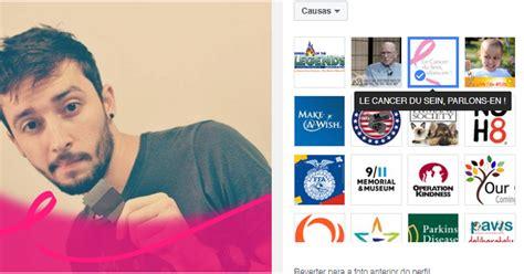 fotos para perfil no facebook saiba como colocar o filtro em apoio ao outubro rosa na