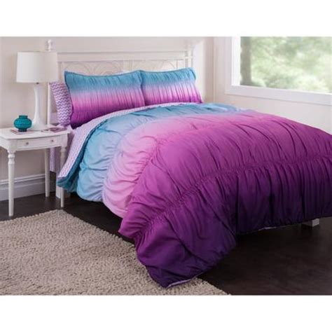latitude doodle reversible bed in a bag bedding set latitude ombre ruched reversible bed in a bag bedding set