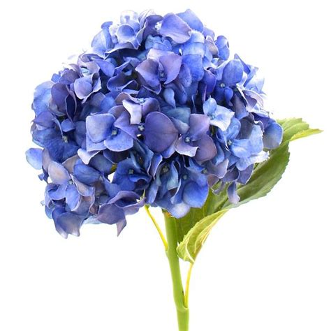 Single Stem Vase Luxury Artificial Deep Blue Hydrangea