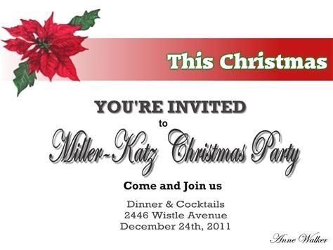 invitation samples christmas party valid blank holiday invitation