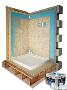 Showers Over Baths Ideas tanking a shower wall before you tiling sealux shower seal