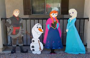 frozen character cutouts 4 piece by charactercre8tions on etsy