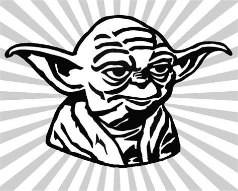 Yoda Drawing Outline by Yoda Clip Cliparts Co