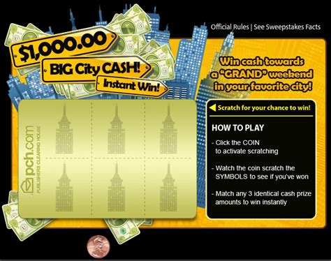 Instant Win Cash - win instant cash with pch scratch cards at the new pch com