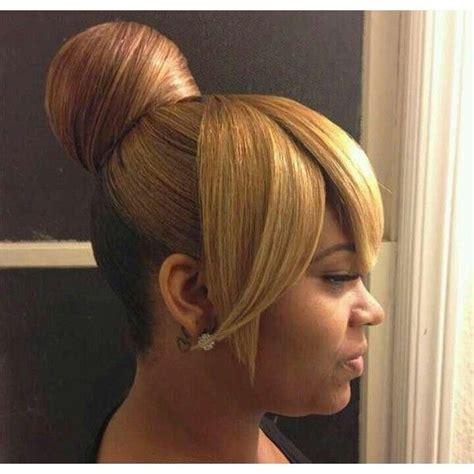 penny bun hairstyle big bang bun and bang hairstyles for black women google search