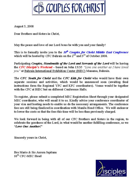 Conference Delegate Invitation Letter 10th Mec Invitation Letter 1 Exodus 2 Events