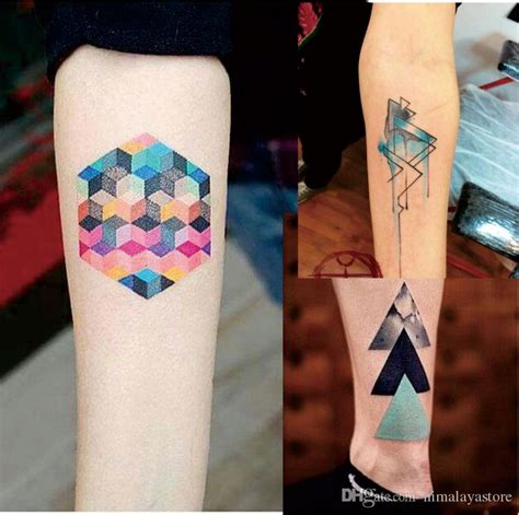 tattoo removal near me cheap w08 watercolor geometric magic tattoo with triangle