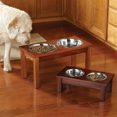 elevated bowls elevated wooden feeder for the