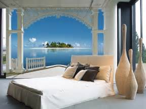 Wall Mural For Bedroom beachy scene wall murals of paradise brewster home