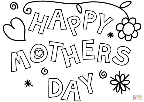 mothers day pictures to color happy s day coloring page free printable coloring
