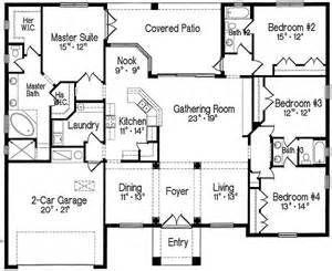 Split Bedroom Floor Plans Plan 4293mj Split Bedroom One Story Living Master Suite Flooring And