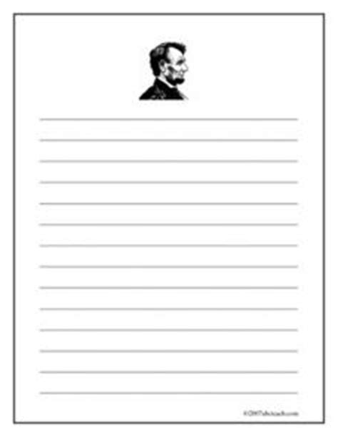 abraham lincoln printable writing paper lincoln writing paper wide ruled printables template