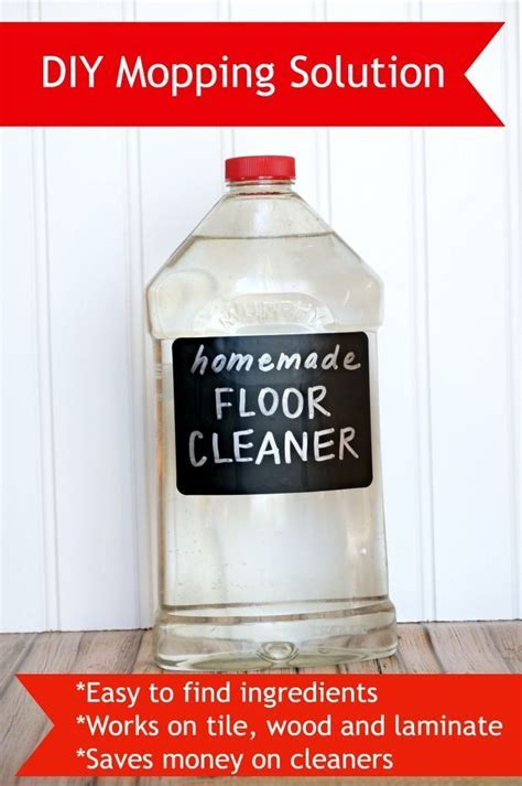 DIY Mopping Solution (Easy to make and Works great on tile