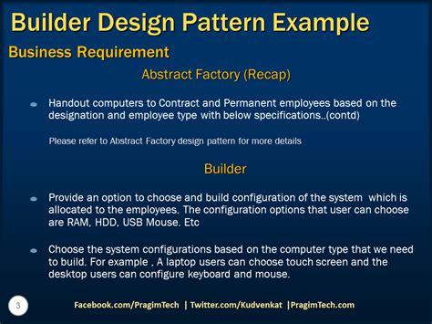 builder pattern in c sql server net and c video tutorial builder design