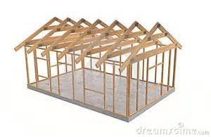 Wood house frame stock photo image 9057210