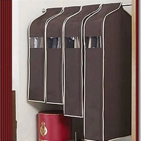 Cloth Dust Cover Pakaian Hanger Bag Organizer Yax hanging garment suit coat clothes dust cover protector wardrobe storage bag ebay