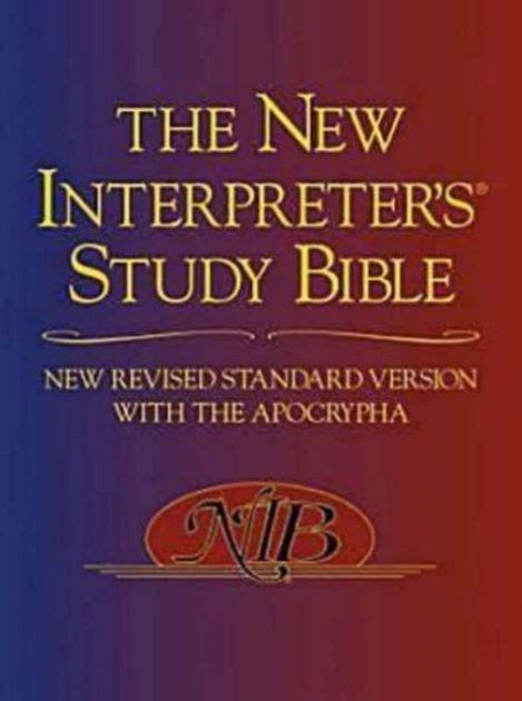 New Revised Standard Version New Interpreter S Study Bible