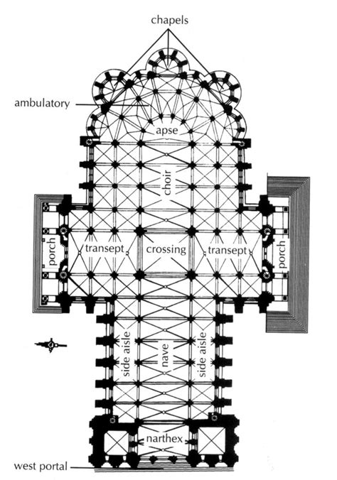 gothic cathedral floor plan plan chartres cathedral fig 16 10 pg 502 located in