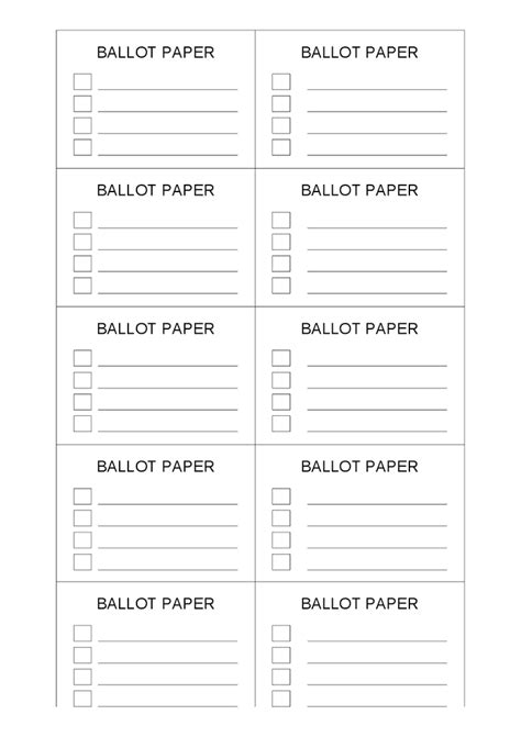 free voting ballot template king and ballot template student council election