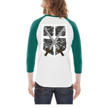 Raglan Attack On Titan 05 shop attack on titan shirt on wanelo