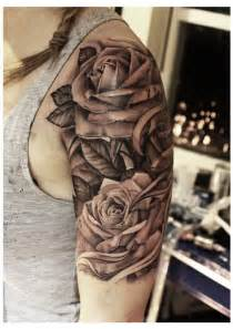 rose tattoo upper arm by john lewis of life amp death