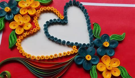 How To Make Paper Quilling Greeting Cards - paper how to make beautiful flower with design