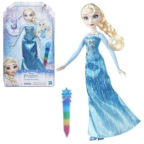 frozen and dolls disney frozen glow elsa doll hasbro frozen
