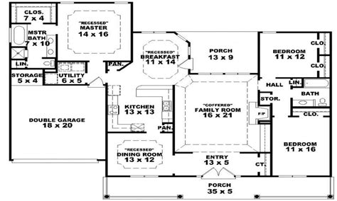 Floor Plans With Porches Single Story Farmhouse House Plans Farmhouse Plans With
