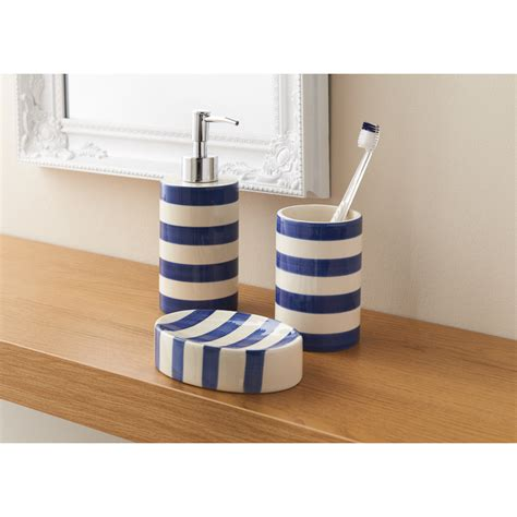 b m colour stripe bathroom set 3pc 317092 b m