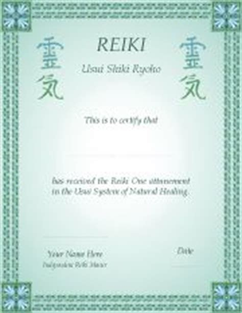 reiki certificate template free pin reiki certificate for master healer level on